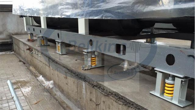 空调机组减振降噪施工现场2