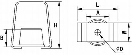 吊式减振器HR型