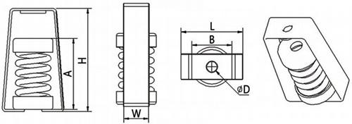 吊式减振器HM型