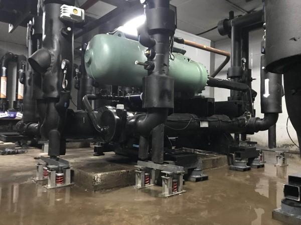 水泵房热泵机组机房低频噪声治理方案,贝尔金减振